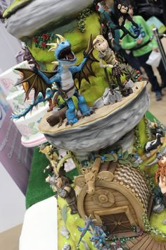 How to Train Your Dragon cake, created for The Cake and Bake show 2014, Manchester.