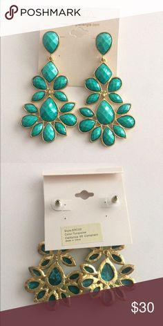 Amrita Singh turquoise chandelier earrings-NWT! Amrita Singh turquoise chandelier earrings-NWT! Brand new in package! Amrita Singh Jewelry Earrings