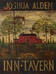 Let's decorate with tavern signs in the basement. Super cool look. Primitive Signs, Primitive Folk Art, Country Primitive, Primitive Decor, Primitive Furniture, Farm Signs, Pub Signs, Shop Signs, Country Signs
