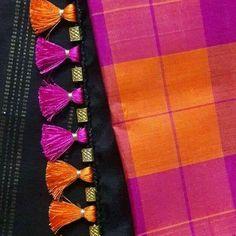 Saree Kuchu New Designs, Saree Tassels Designs, Blouse Designs Silk, Designer Blouse Patterns, Bridal Blouse Designs, Hand Work Blouse Design, Stylish Blouse Design, Rangoli Designs Flower, Tatting Necklace