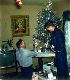 Vintage Christmas photo, 1960's.