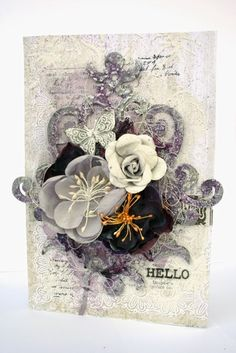 Hello card by Lisa Griffith