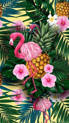 Flamingo Wallpaper, Flowery Wallpaper, Tropical Wallpaper, Summer Wallpaper, Cool Wallpaper, Flamingo Painting, Flamingo Art, Easter Backgrounds, Wallpaper Backgrounds
