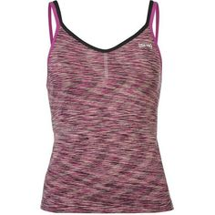 USA Pro Seamless Tank Top Ladies (£13) ❤ liked on Polyvore featuring tops, seamless top, purple top, seamless tank top, purple tank and seamless tank