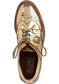 Jeffrey Campbell Townsend Oxford Gold Leather - Jildor Shoes, Since 1949