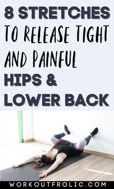 Hip Mobility Exercises, Lower Back Pain Exercises, Flexibility Workout, Workouts For Lower Back, Hip Pain Relief, Lower Back Pain Relief, Back Relief, Sciatica Stretches, Stretches For Hip Flexors