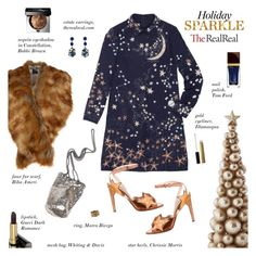"""Holiday Sparkle With The RealReal: Contest Entry"" by sharplilteeth ❤ liked on Polyvore featuring Valentino, Gucci, Bobbi Brown Cosmetics, Biba, Whiting & Davis, Chrissie Morris, Tom Ford, Illamasqua and Marco Bicego"
