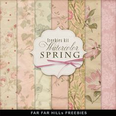 New Freebies Kit - Watercolor Spring:Far Far Hill - Free database of digital illustrations and papers