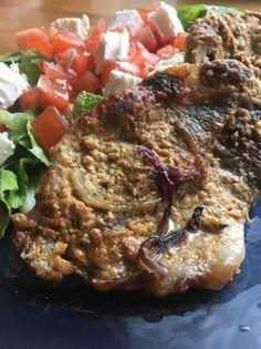Mustáros pácolt tarja velesült burgonyával Pork, Kale Stir Fry, Pork Chops