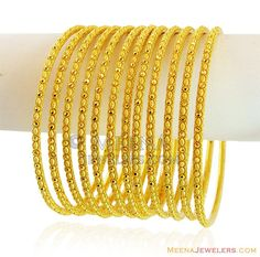 Exclusive Gold Filigree Bangles Set ( Set of Bangles )