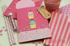 Cupcake Einladungskarten DIY