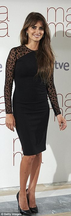 Penelope Cruz in racy leopard print dress as she promotes new movie Ma Ma   Daily Mail Online