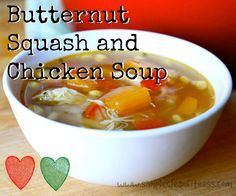 Butternut Squach and Chicken Soup - 21 Day Fix Recipes - Clean Eating Recipes Healthy Recipes - Dinner - Lunch  weight loss - 21 Day Fix Meals - www.simplecleanfitness.com