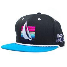 Pink+Dolphin — Sail Strapback Hat in Black