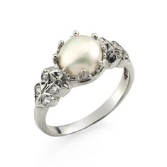 Hey, I found this really awesome Etsy listing at https://www.etsy.com/listing/385221546/engagement-ring-pearl-wedding-ring