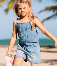 This is a soft denim romper, very comfortable and wonderful for a picnic day.