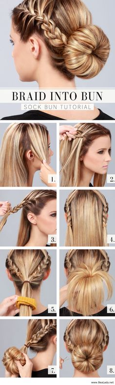 - Cute and Easy Hairstyles. - Source Cute and Easy Hairstyles. Cute and Easy Hairstyles. Sock Bun Hairstyles, Pretty Hairstyles, Everyday Hairstyles, Hairdos, Hairstyles 2018, Simple Hairstyles, Wedding Hairstyles, Latest Hairstyles, Summer Hairstyles