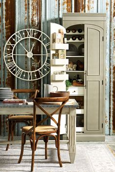 Our freestanding Paulette Pantry is a serious storage work horse. Use it to store dry goods in the kitchen, serveware in the pantry, arts and crafts projects in the office, or even towels in the bathroom!