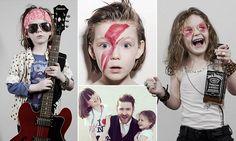 Dad dresses daughters as rock icons like Jimi Hendrix, Janis Joplin, Keith Richards, Jim Morrison, John Lennon, & Axl Rose for funny snaps <3