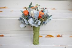 Fall rustic orange and gray wedding