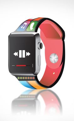 A smartband Apple Watch wristband concept that uses the watch band as an extension of the watch screen.