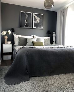 Gorgeous dark modern bedroom furniture tips for 2019 Bedroom Sets, Dream Bedroom, Home Decor Bedroom, Bedroom Furniture, Furniture Layout, Guest Bedrooms, Office Furniture, Furniture Ideas, Furniture Design