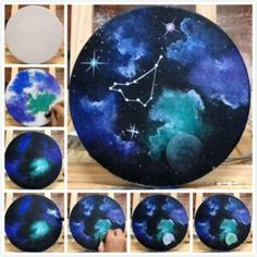 10 Easy DIY Painting For Home Decor - Easy Home Decorating Are you looking for some Easy Painting for home Decor? The art of starry sky painting is very popular in recent years - Easy Painting For Beginner. Easy Canvas Painting, Acrylic Painting Techniques, Sky Painting, Painting Lessons, Canvas Art, Rock Painting, Painting Shoes, How To Start Painting, Beginner Painting