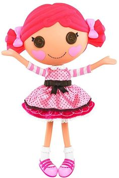 "Lalaloopsy Dolls: Evelyn likes Lalaloopsy. This image is a favorite because ""it's a ballet one and it's 'fancasket'"""