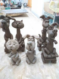 Pottery Animals, Ceramic Animals, Clay Animals, Cement Crafts, Clay Crafts, Kids Clay, Pottery Handbuilding, Clay Art Projects, Sculpture Clay