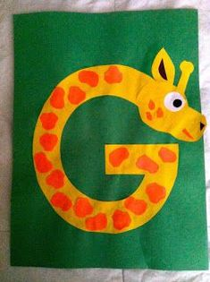 G is for Giraffe with pattern