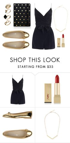 """Golden girl"" by aerlinnswenson ❤ liked on Polyvore featuring Zimmermann, Yves Saint Laurent, Dodo' Le Parisienne, Jules Smith and New Look"