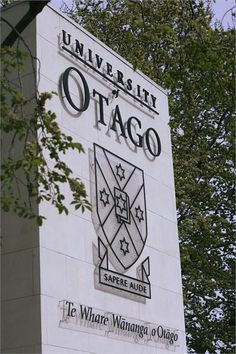 The University of Otago logo, Latin motto and Maori translation monument Latin Mottos, Kiwiana, South Island, New Zealand, University, Education, Future, Logo, Maori