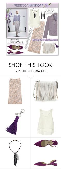 """Rebecca Minkoff Spring'16"" by pumsiks ❤ liked on Polyvore featuring Rebecca Minkoff, Balmain, Paul Andrew, White Label, women's clothing, women, female, woman, misses and juniors"