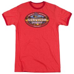 Survivor Cook Islands Red Ringer T-Shirt
