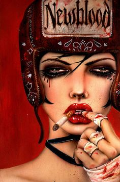 New Blood Rising by Brian Riveros. I'm sure this is a repin but I don't care. I love his paintings! #art