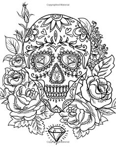 Adult Coloring Books Sugar Skulls Emma Andrews 9781522845973 Amazon