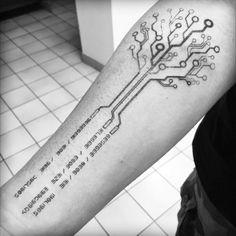 Tattoodo - The first tatoo's brother - Full Body Tattoo, Full Sleeve Tattoos, Body Art Tattoos, Hand Tattoos, Geek Tattoos, Tech Tattoo, Arm Tattoo, Samoan Tattoo, Polynesian Tattoos