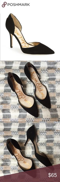 Sam Edelman Delilah D Orsay black suede heels Sam Edelman Delilah D Orsay  black suede heels with snake print detail on the back of the heel. Size  women s ... 3433b5875