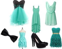 """Tiffany blue dresses"" by my-love-for-fashion on Polyvore"