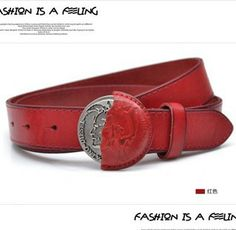Free Shipping men and women genuine leather round buckle belt strap first layer of cowhide punk classic fashion cow skin belt