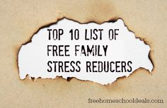 Family Stress Reducers that don't cost a thing!
