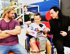 """""""Which villain do you like most?"""" Not gonna lie, repinning mainly for Thor's biceps"""