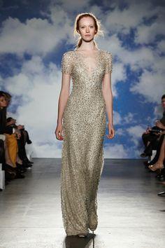 Gold Wedding Dress Jenny Packham's 2015 Bridal Collection