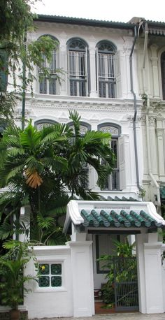 A charming 19th century Peranakan shophouse near Orchard Road, Singapore.