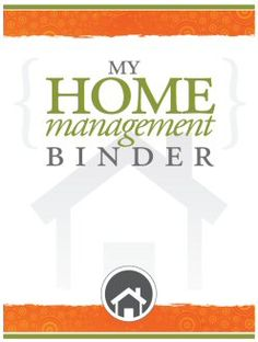 Fantastic FREE home management binder. So amazing that its all available for free download.