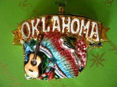 Christopher Radko Celebrate Oklahoma Glass Ornament   eBay