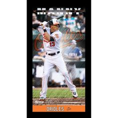 Manny Machado Baltimore Orioles Player Profile Wall Art 9.5x19 Framed Photo