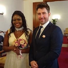 We are Victor and Xolly👰🏾🤵🏼We fell in love at first sight. 5 months later, we got engaged, because we knew what we wanted in life. Since then, our love has become stronger and stronger. She is from Zimbabwe, I am from Spain, and we all live in Germany. @victor_and_xolly ❤️🖤🤍💜💚💙🧡💛🤎 . . . #interracialmarriage #interracialdatingsite #interracialfamily #interracialrelationship #interraciallove #blackandwhite #melaninpoppin #melaninbeauty #happymarriage #loveconquersall… Interracial Family, Interracial Dating Sites, Interracial Marriage, We Fall In Love, Falling In Love, White Man, Black And White, Love Conquers All, Happy Marriage