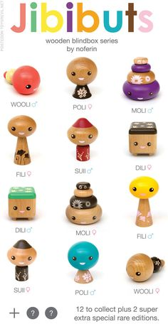 Wooden Blind Box Collectible Toys