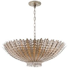 AERIN Hampton Large Pendant, Silver Leaf #williamssonoma